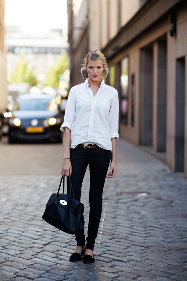 Picture Of chic black and white work outfits for girls  18