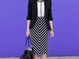 chic-black-and-white-work-outfits-for-girls-19
