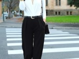 chic-black-and-white-work-outfits-for-girls-22