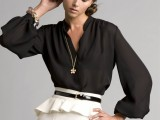 chic-black-and-white-work-outfits-for-girls-23