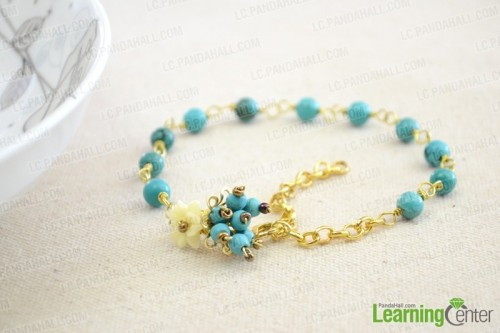 beads and chain anklet (via lc)