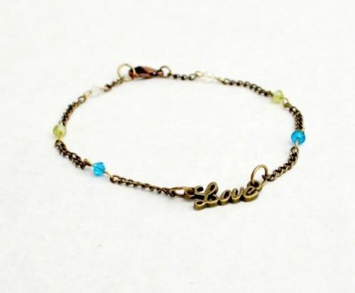 LOVE ankle bracelet (via oneartsymama)
