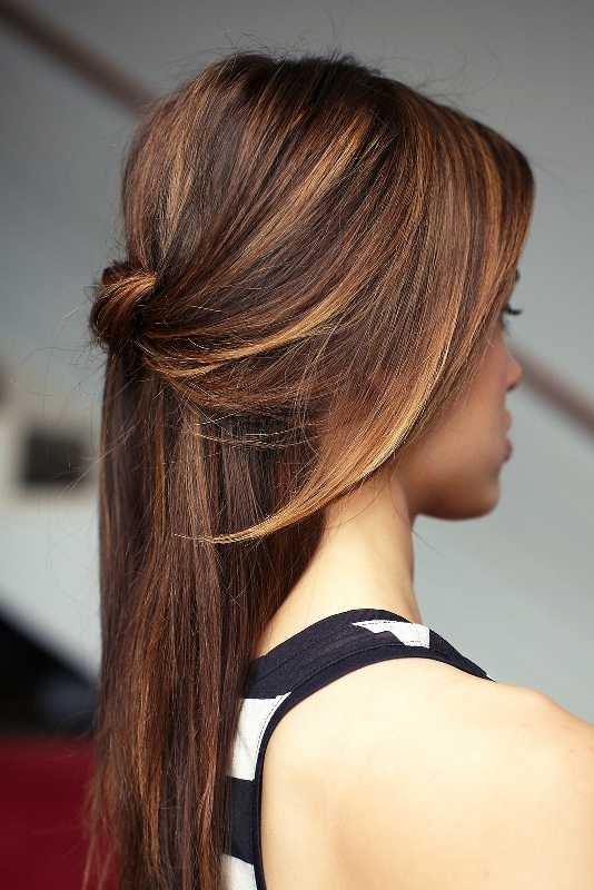 Picture Of chic diy cascading knotted half updo  1