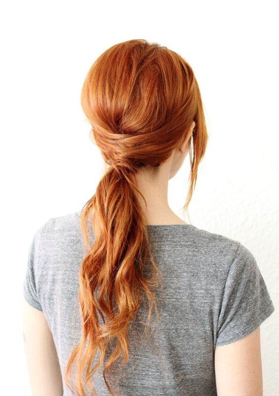 Picture Of chic diy crisscross ponytail hairstyle  1