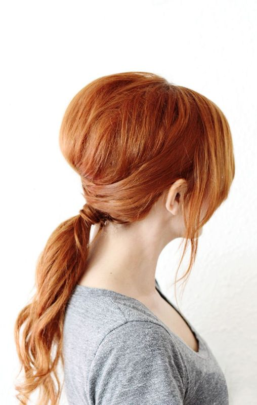 Picture Of chic diy crisscross ponytail hairstyle  2