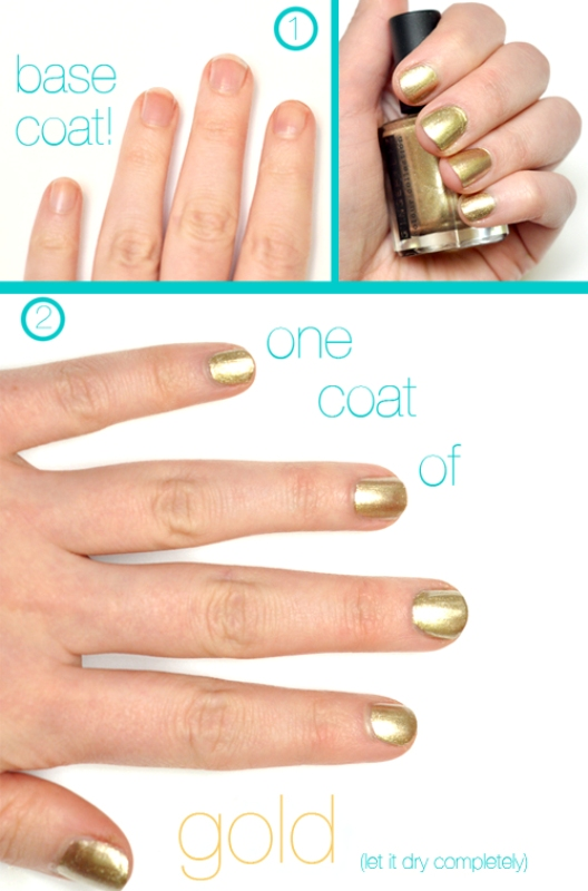 Picture Of chic diy half moon nail art  3