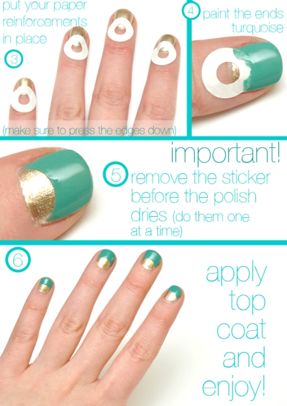 chic diy half moon nail art 4 Styleoholic - Hairstyles 2014 Fall