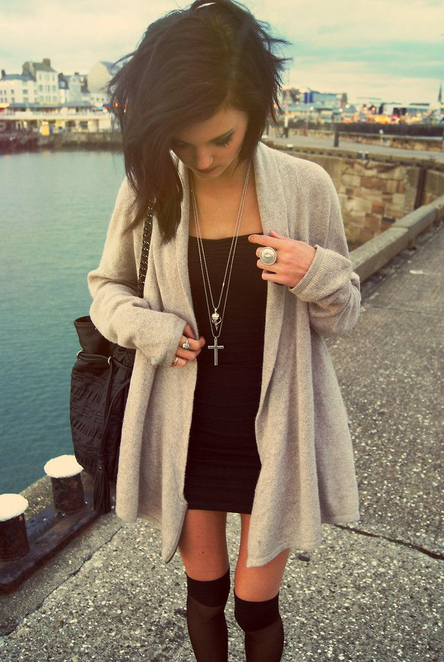 Picture Of chic ways to style your little black dress  13