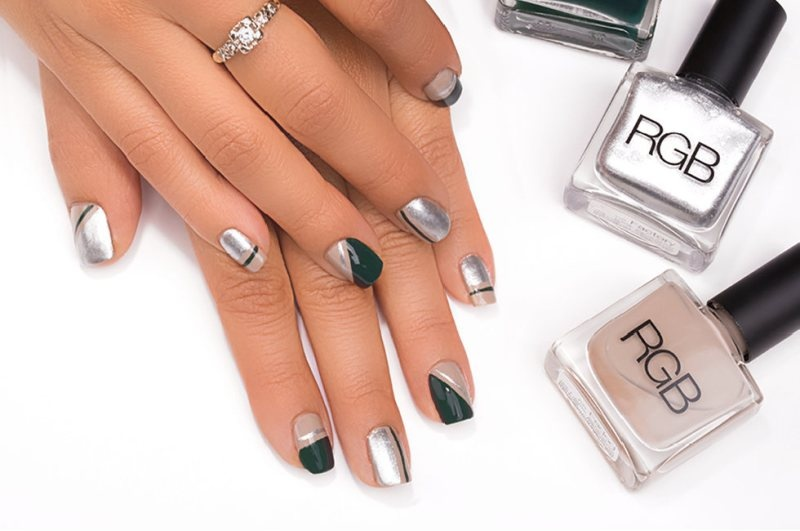 Picture Of classy diy color blocking nail design to make  1