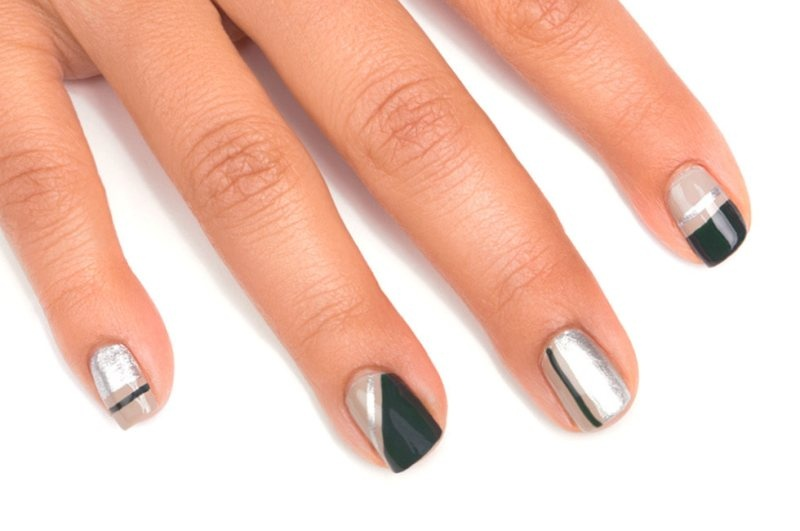 Picture Of classy diy color blocking nail design to make  3