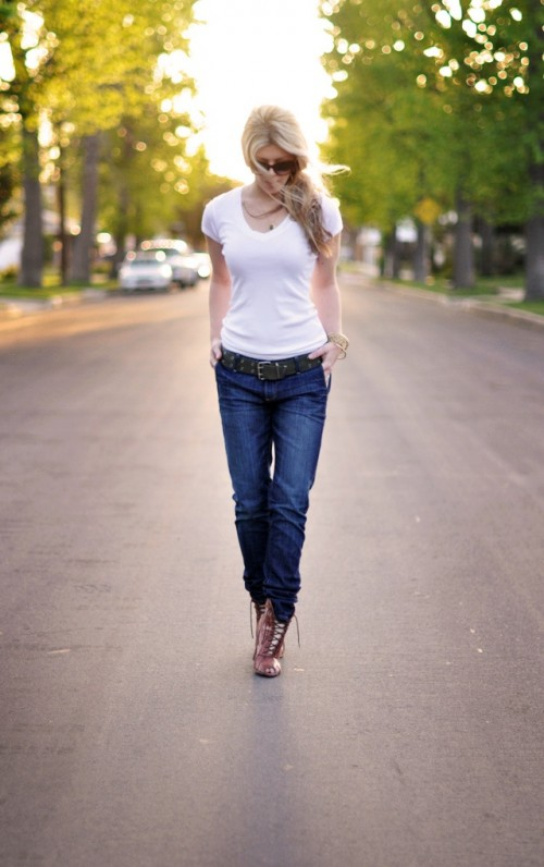 Classy Looks With A White T Shirt