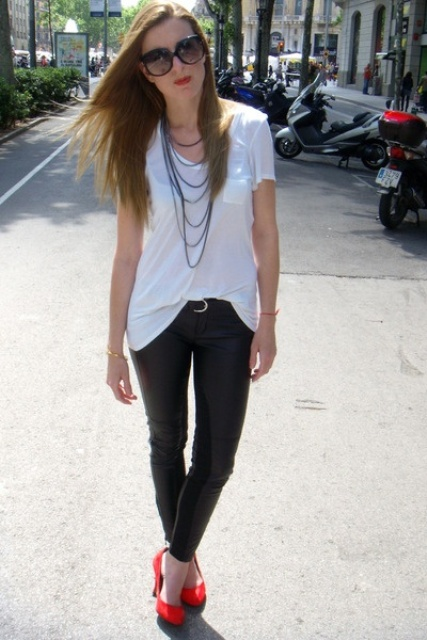 Picture Of classy looks with a white t shirt  7