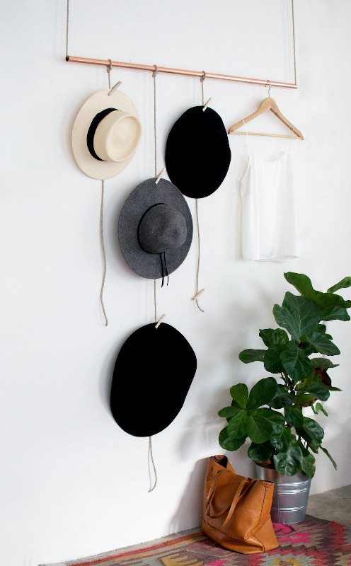 Picture Of clever and creative diy hanging rack for your hats  2