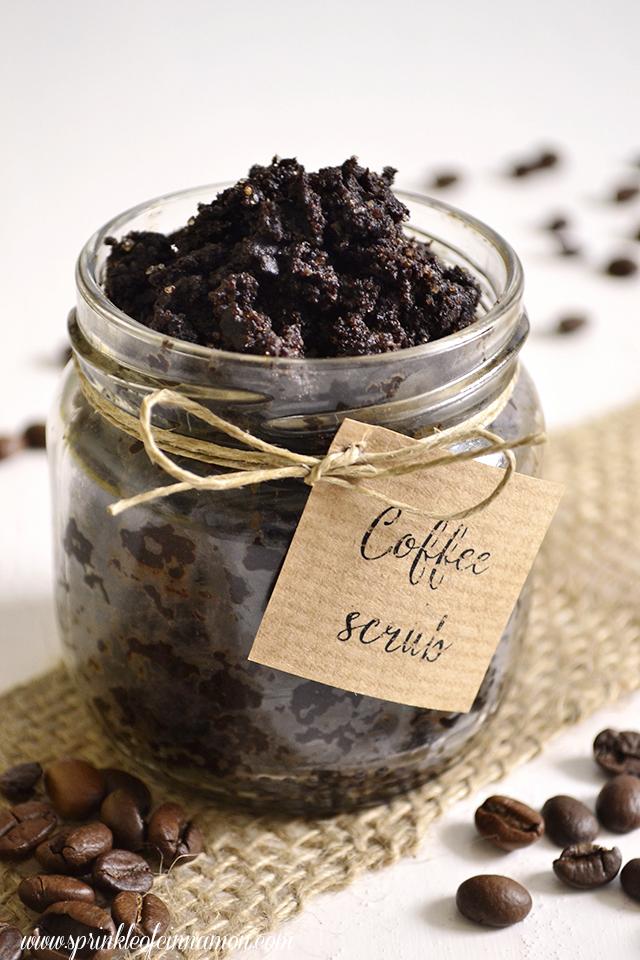 coffee and olive oil scrub