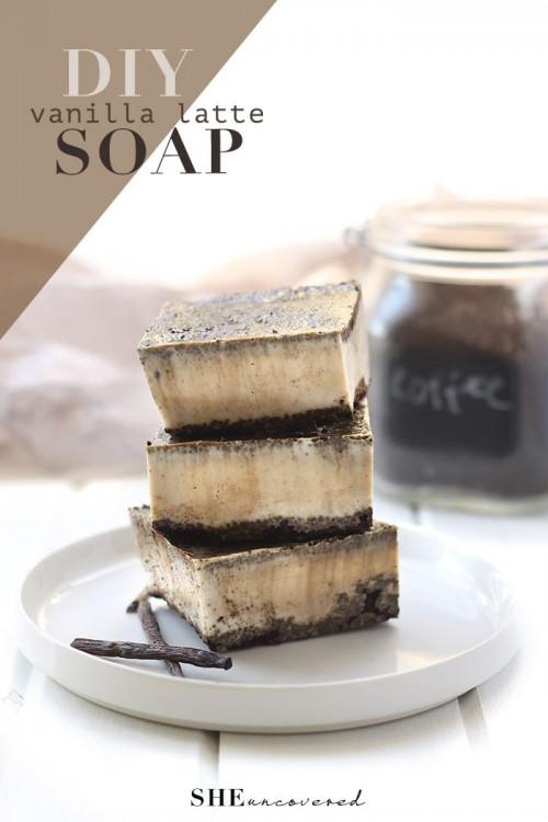 vanilla latte soap (via sheuncovered)