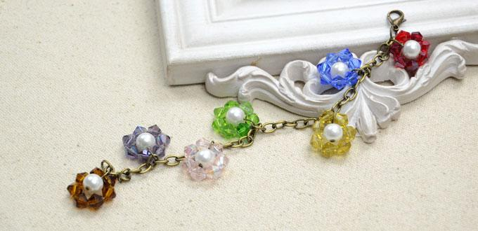 Picture Of Colorful Diy Beaded Flower Charm Bracelet 1