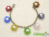 colorful-diy-beaded-flower-charm-bracelet-5