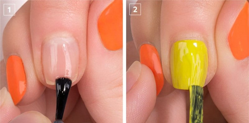 Picture Of colorful diy electric circles nail art to try  2