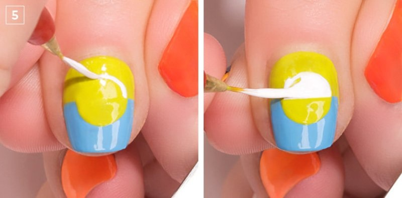 Picture Of colorful diy electric circles nail art to try  5
