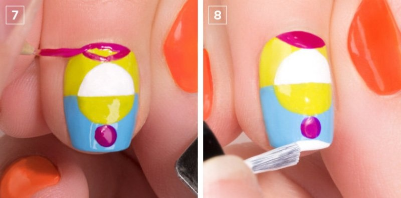 Picture Of colorful diy electric circles nail art to try  7