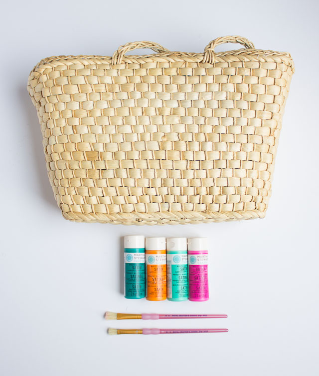 Picture Of colorful diy painted straw tote bags  3
