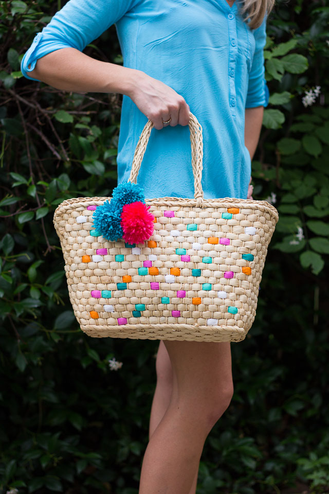 Picture Of colorful diy painted straw tote bags  6
