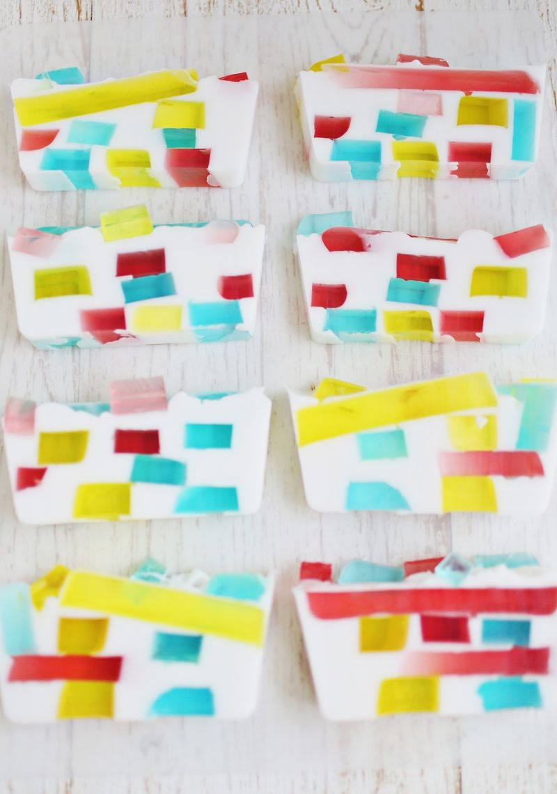 Picture Of colorful diy stained glass soap  1