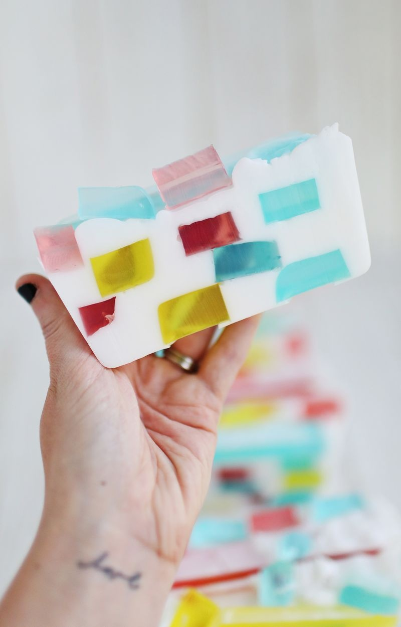 Colorful DIY Stained Glass Soap