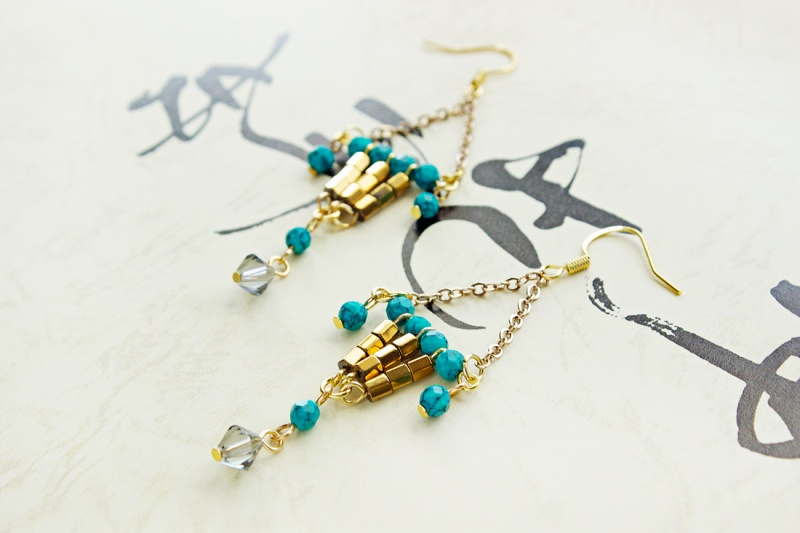 Picture Of colorful diy statement lantern earrings  1