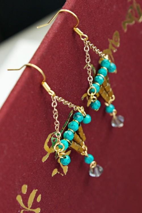 Colorful DIY Statement Lantern Earrings