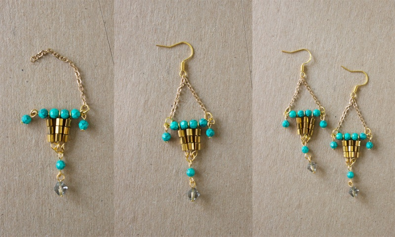 Picture Of colorful diy statement lantern earrings  5