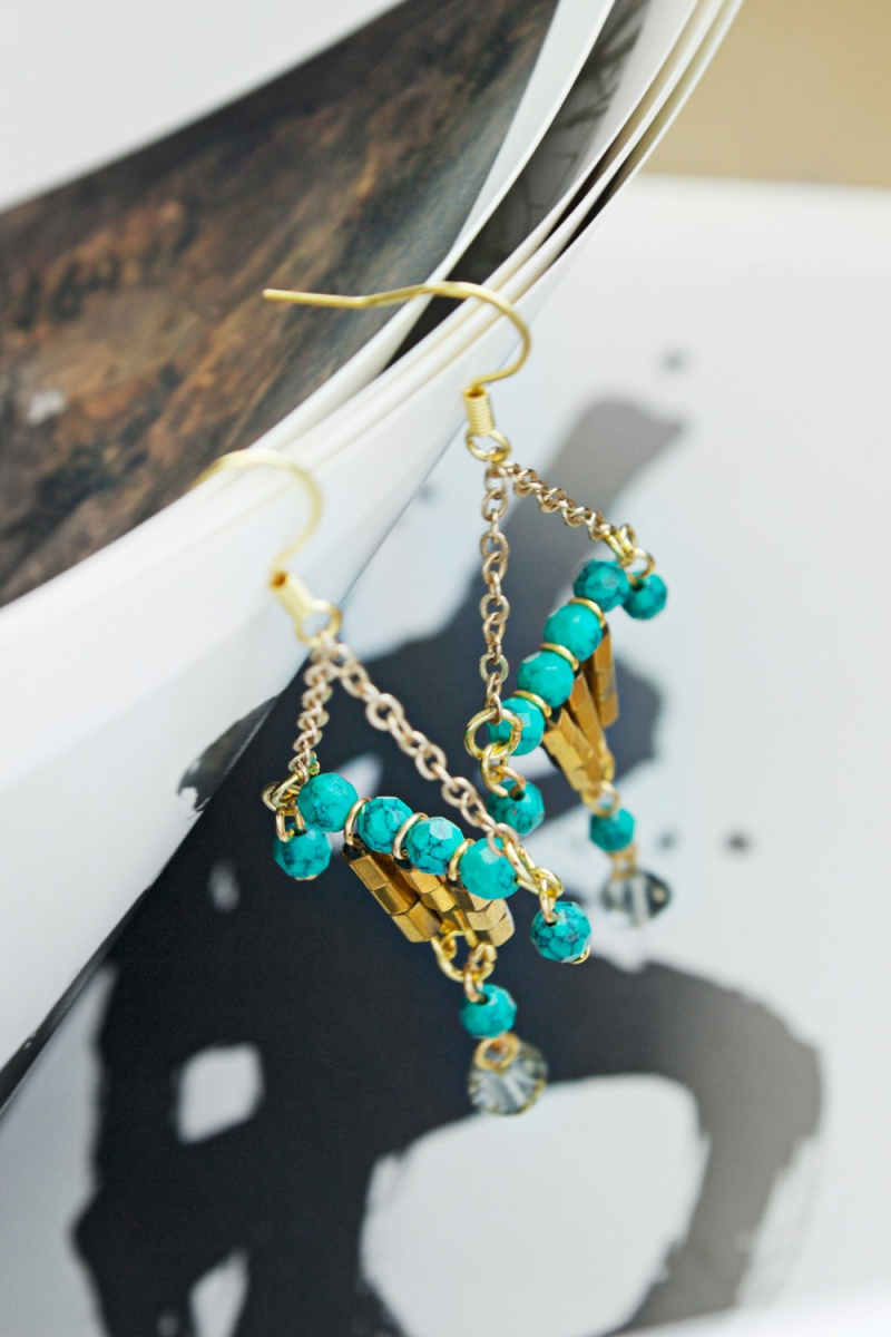 Picture Of colorful diy statement lantern earrings  7