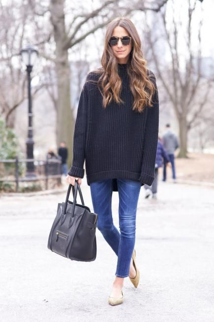 Picture Of comfy and cozy oversized sweater outfits for fall  20