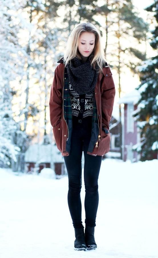 Picture Of comfy and cozy winter holiday looks  14