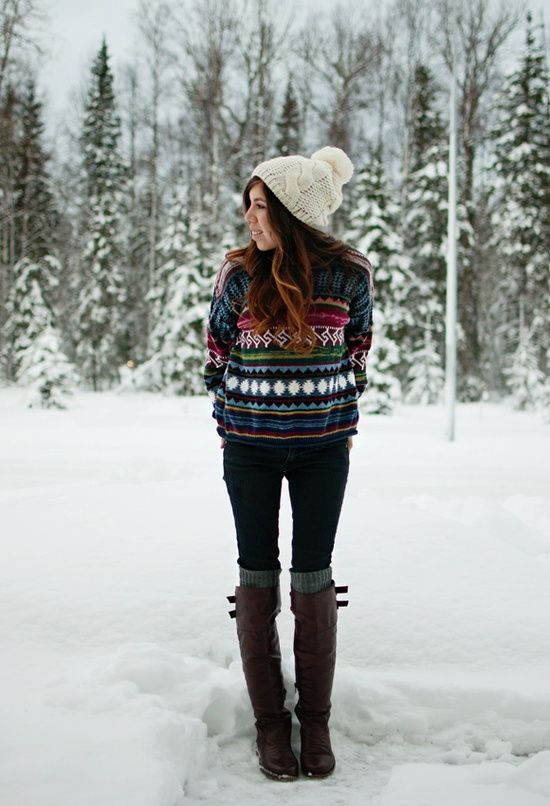 Picture Of comfy and cozy winter holiday looks  3