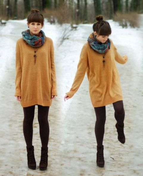 Picture Of comfy sweater dresses for cold weather  12