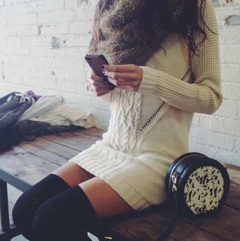 Picture Of comfy sweater dresses for cold weather  6