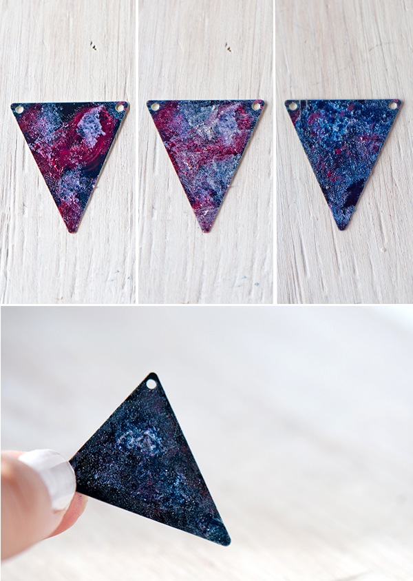 Picture Of cool and easy diy galaxy necklace  5