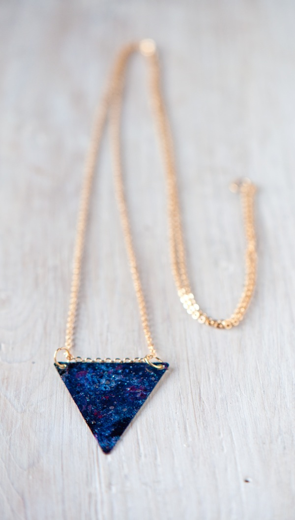 Picture Of cool and easy diy galaxy necklace  7