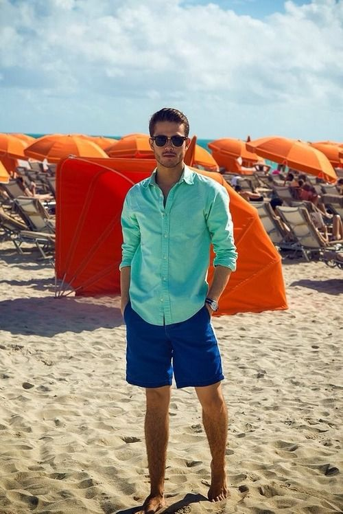 Picture Of cool and relaxed beach men outfits  13