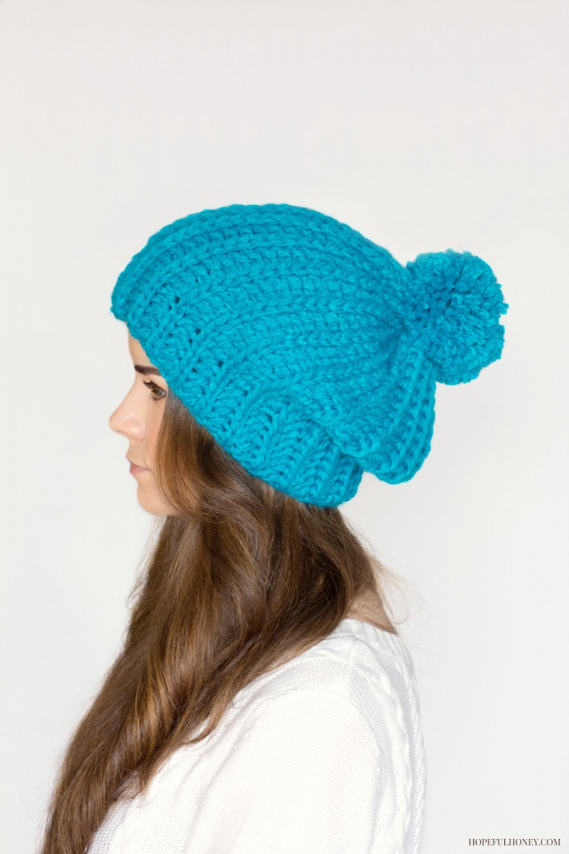 French pompom beret pattern