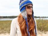 ear flap knit beanie