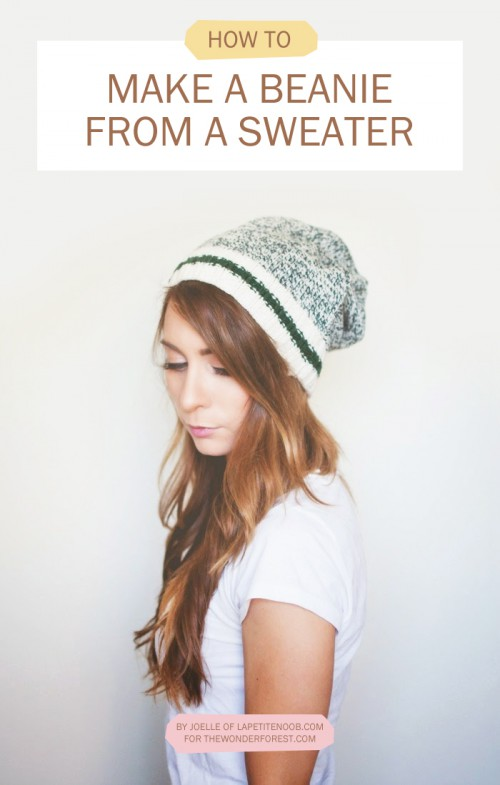 no sew beanie (via thewonderforest)