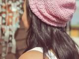 crocheted slouch pattern beanie