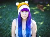 fox crochet hat