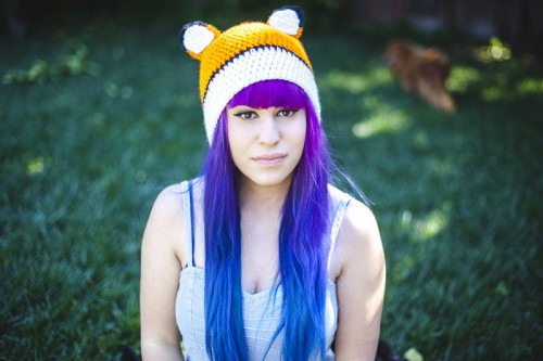 fox crochet hat  (via daintyfawn)