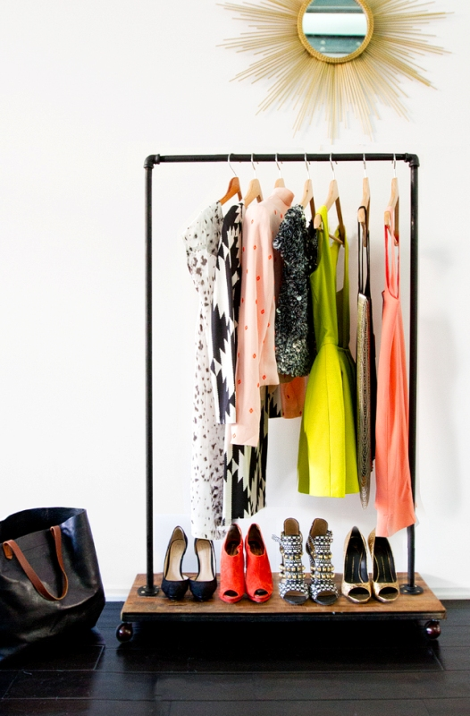 Picture Of cool diy garment rack to display your favorite items  1