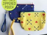 half-circle zipper pouch
