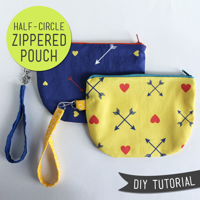 half circle zipper pouch