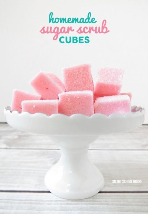 Cool DIY Sugar Scrub Cubes To Make